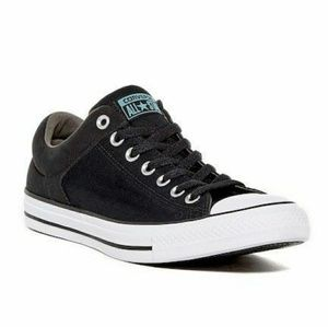 Women's black and blue converse